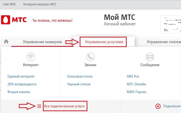 Как отключить мобильный интернет на телефоне МТС